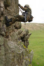 Free Armed Military Alpinist Climbing Stock Photography - 19473062