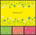 Free Abstract, Modern Background With Flowers Stock Photography - 19474292