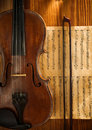 Free Violin And Fiddlestick On Note Stock Images - 19476714