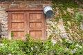 Free Closed Wood Window On Aged Brick Wall Stock Photo - 19477600