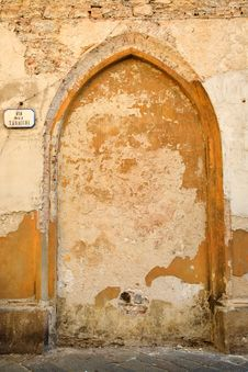 Free Old Wall In Italy With Sign Stock Images - 19470164