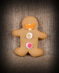 Free Ginger Bread Man. Royalty Free Stock Image - 19470256