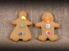 Free Ginger Bread Man And Woman. Royalty Free Stock Photography - 19470327