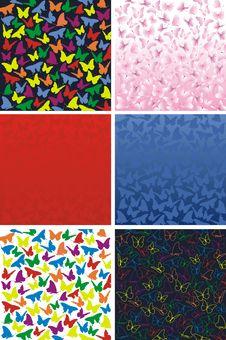 Free Summer Butterfly Pattern Stock Photo - 19470490