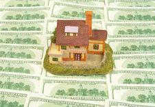 Free House On Hundreds Dollars Royalty Free Stock Image - 19470546