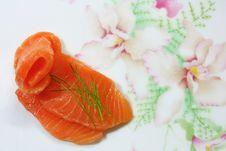Salmon Seshimi Royalty Free Stock Photo