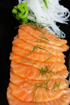 Free Salmon Seshimi Royalty Free Stock Photography - 19470837