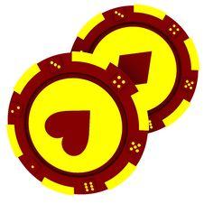 Casino Tokens Stock Photo