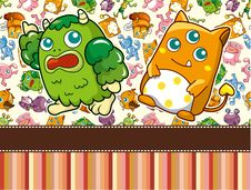 Free Cartoon Monster Card Stock Images - 19471754