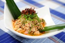 Spicy Pork - Thaifood Royalty Free Stock Images