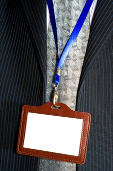Badge Hanging Around His Neck Stock Images