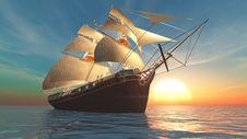 Free Sailing Boat Royalty Free Stock Photo - 19472055
