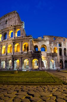 Free Rome - Colosseum At Dusk Royalty Free Stock Photos - 19472098