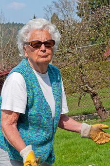 Free Senior Woman In Garden Stock Image - 19472621