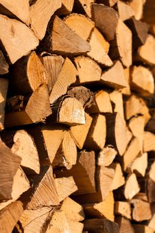 Free Stacks Of Firewood Stock Image - 19472721
