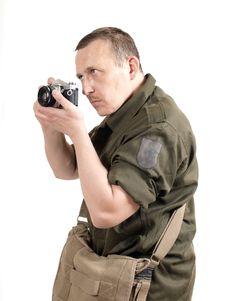 Free Military Photo Reporter Stock Photos - 19472833