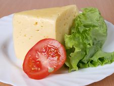 Free Vegetables And Cheese On Plate Royalty Free Stock Photo - 19472935