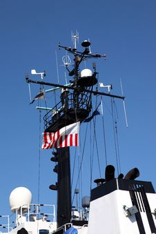 Free Coast Guard Mast & Electronics, Astoria OR. Stock Photos - 19472973
