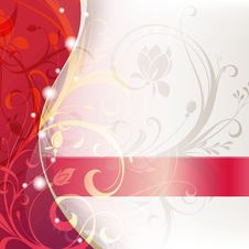 Free Red Floral Abstract Royalty Free Stock Images - 19473049