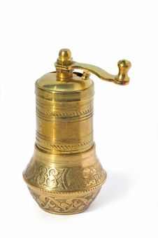 Antique Pepper And Coffee Grinder Royalty Free Stock Image