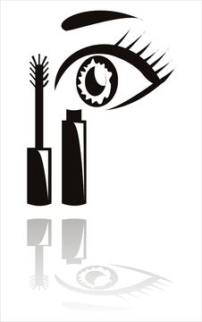 Free Black Mascara With Eye Stock Photo - 19473520