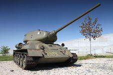 Free Tank T34 Royalty Free Stock Image - 19473596