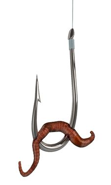 Silver Fishing Hook Royalty Free Stock Images
