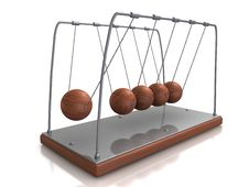 Collision Ball Pendulum Newton Stock Photography