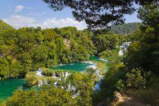 Free Waterfall KRKA In Croatia Royalty Free Stock Images - 19474009