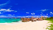 Free Tropical Beach At Seychelles Stock Photos - 19474013