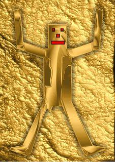 Free Goldenpuppet In Golden Surrounding Stock Photo - 19474350