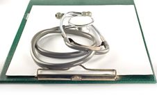 Stethoscope And Clipboard Royalty Free Stock Image