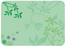 Free Decorative Floral Green Background. Vector Royalty Free Stock Images - 19474629