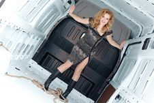 Free Pretty Young Woman In Cargo Van Royalty Free Stock Photo - 19475175