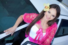 Free Young Pretty Woman With A New Car Stock Photography - 19475322