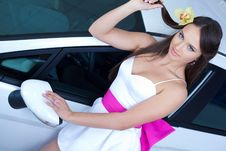 Free Young Pretty Woman With A  Car Royalty Free Stock Photo - 19475355