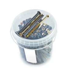 Free Bucket Of Screws Label Royalty Free Stock Photos - 19475458