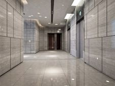 Free Rendering Modern Corridor Royalty Free Stock Photography - 19475497