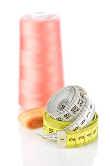 Free Measure Tapes And Thread Stock Image - 19476101