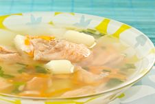 Free Salmon Soup Royalty Free Stock Photography - 19476587