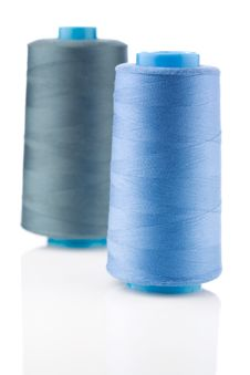 Free Two Bobbin With Thread Royalty Free Stock Photo - 19476655