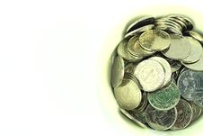 Free Silver Coins In A Bowl Royalty Free Stock Image - 19478136