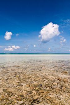 Beautiful Beach Sky In Thailand Stock Image
