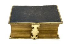 Free Antique Leather Book Over White Stock Photo - 19479210
