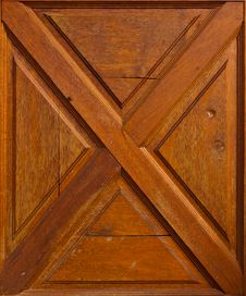 Wooden Wall With Cross Pattern Royalty Free Stock Photo