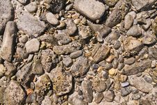 Free Stones Pattern Texture On The Beach Royalty Free Stock Image - 19479376