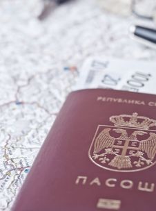 Free A Closeup Picture Of  Passport Royalty Free Stock Photo - 19479915