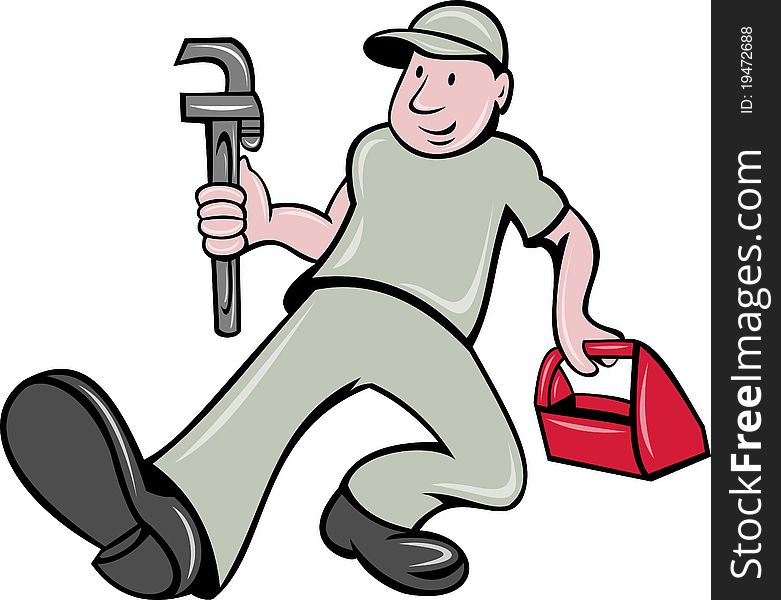 Plumber monkey wrench toolbox