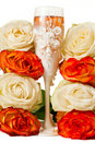 Free Champagne And Roses Stock Photography - 19487162