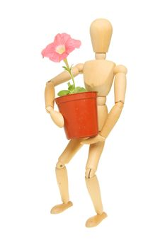 Free Manikin And Petunia Stock Photos - 19480123